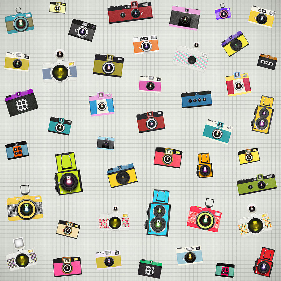 Retro Camera Pattern Photograph