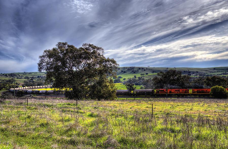 Train Photograph - Rural Australia by Imagevixen Photography