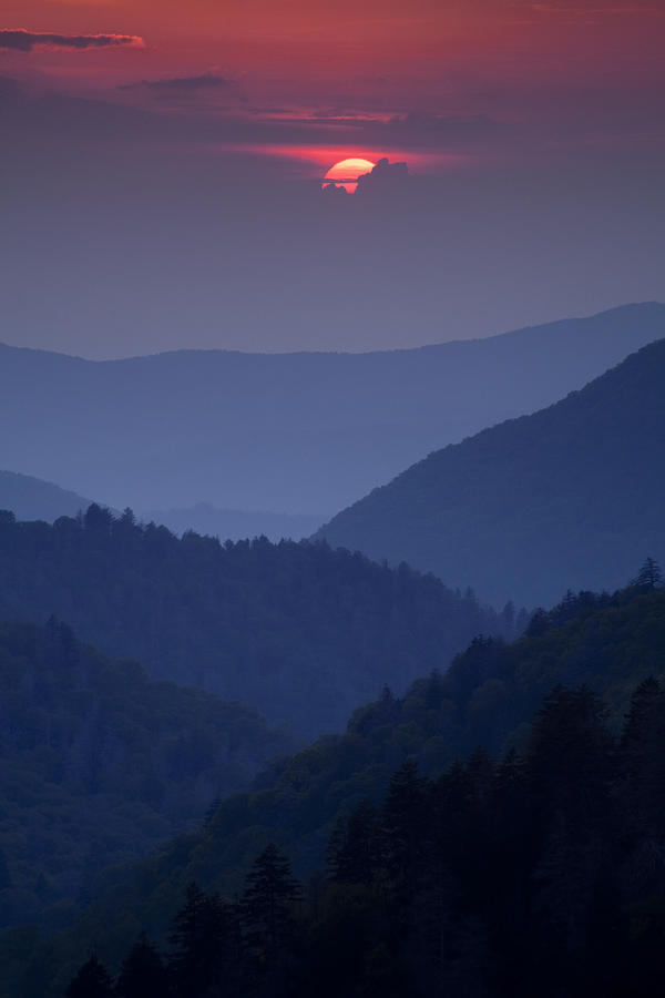 Smoky Mountain Sunset Photograph  - Smoky Mountain Sunset Fine Art Print