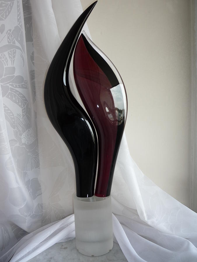 Venetian Art Glass Art - Statua Insieme by S Seguso