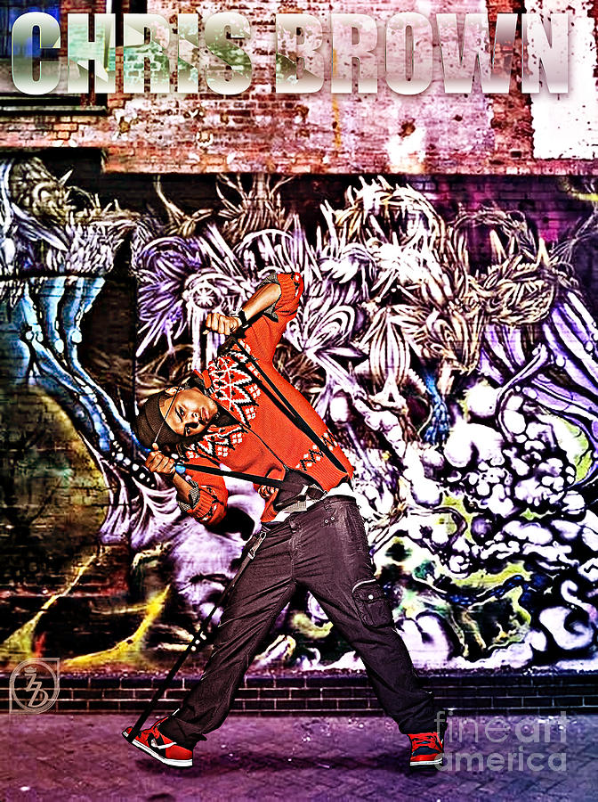 Street Phenomenon Chris Brown Digital Art