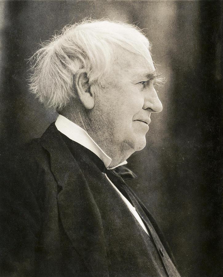 Thomas edison photograph thomas edison us inventor by humanities