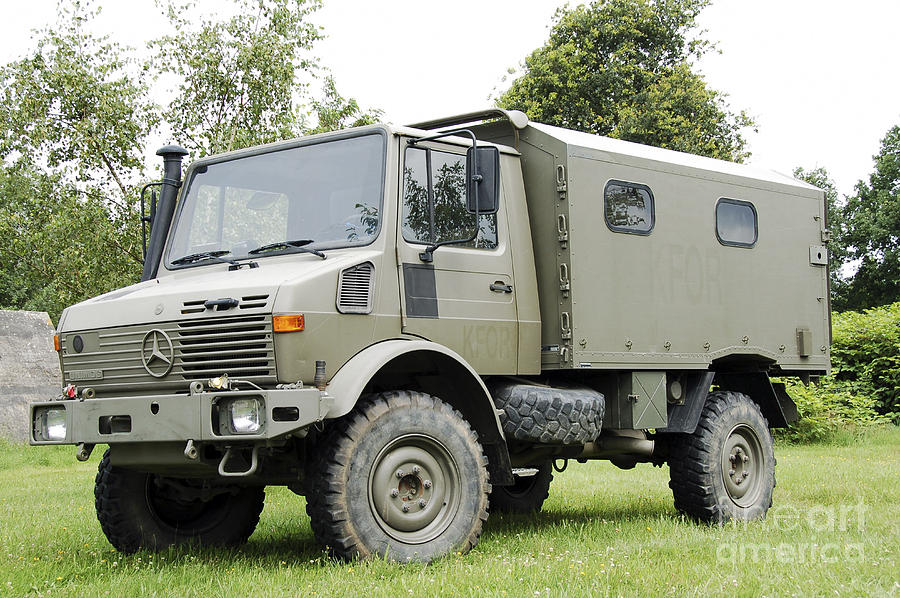 Unimog Truck Of The Belgian Army Photograph  - Unimog Truck Of The Belgian Army Fine Art Print