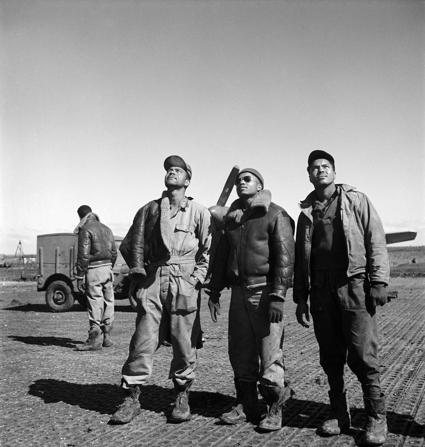 Wwii: Tuskegee Airmen, 1945 Photograph