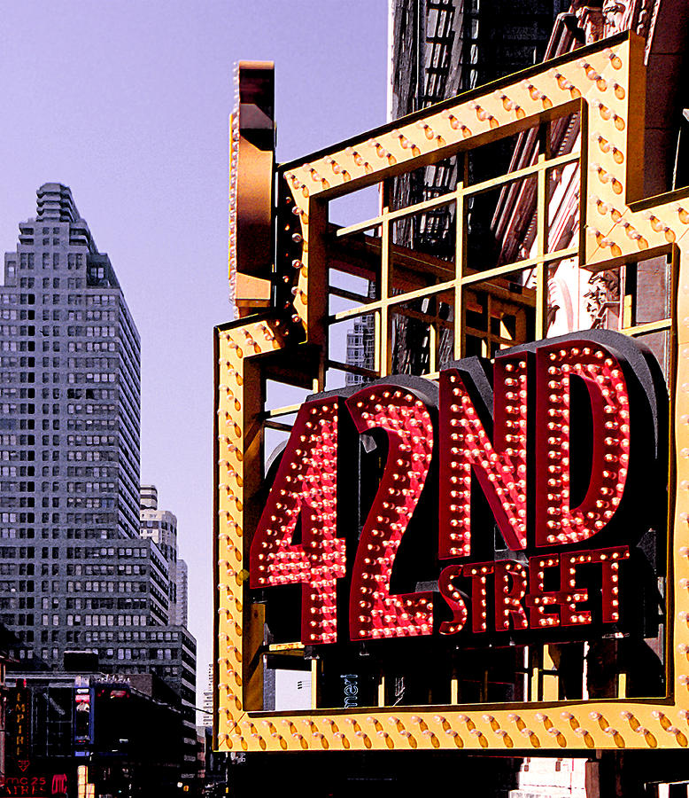 42nd Street New York City Photograph  - 42nd Street New York City Fine Art Print