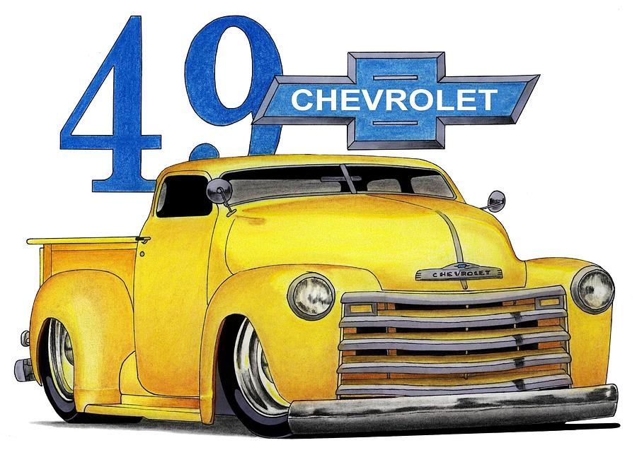 49 Chevy Mixed Media
