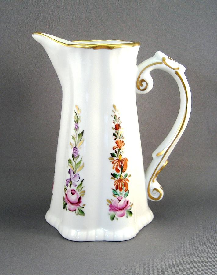 494 Pitcher In Dresden Style Ceramic Art