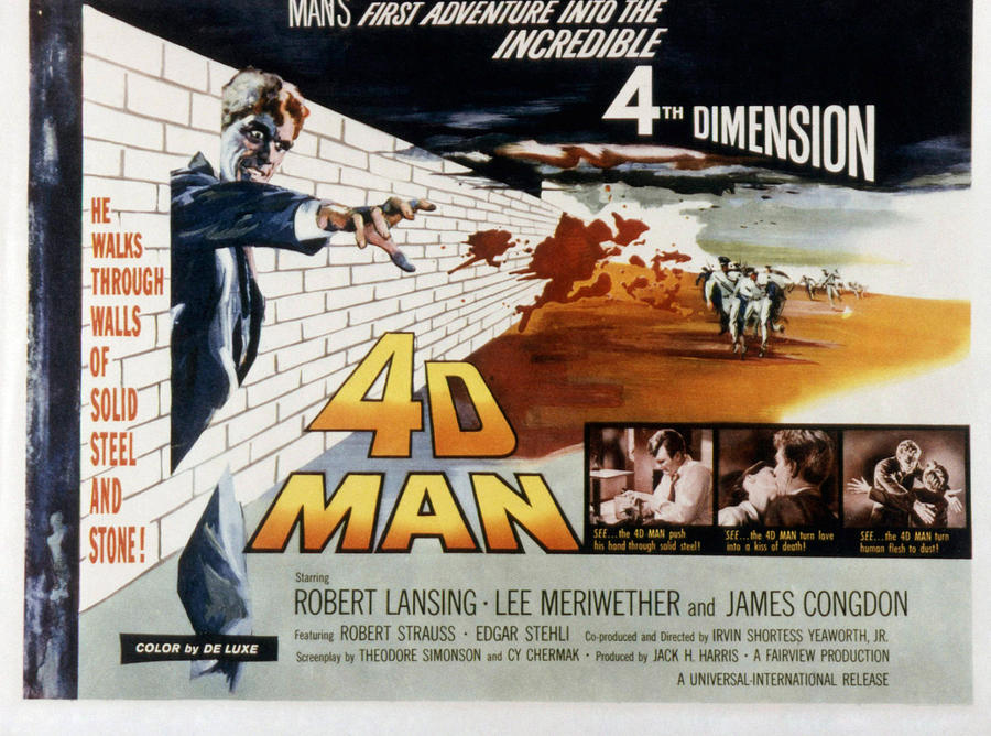 4d Man, Robert Lansing, 1959 Photograph