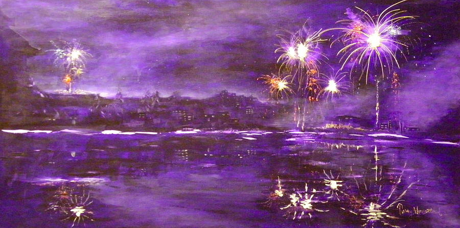 4rh Of July Celebration Painting  - 4rh Of July Celebration Fine Art Print