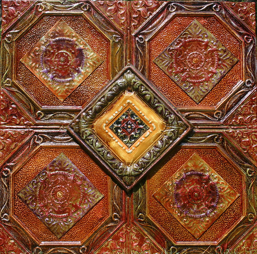 Images of antique ceiling tiles on sc 4x4 antique tin ceiling tiles 4 way by kenny the tin man hoff doublecrazyfo Choice Image