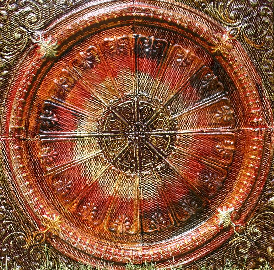 Sunburst Ceiling Medallion 4'x4' Ceiling Medallion Sunburst by Kenny The Tin Man Hoff