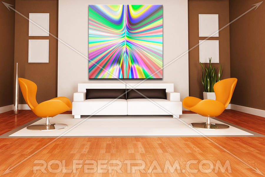 An Example Of Modern Art By Rolf Bertram In An Interior Design Setting Digital Art
