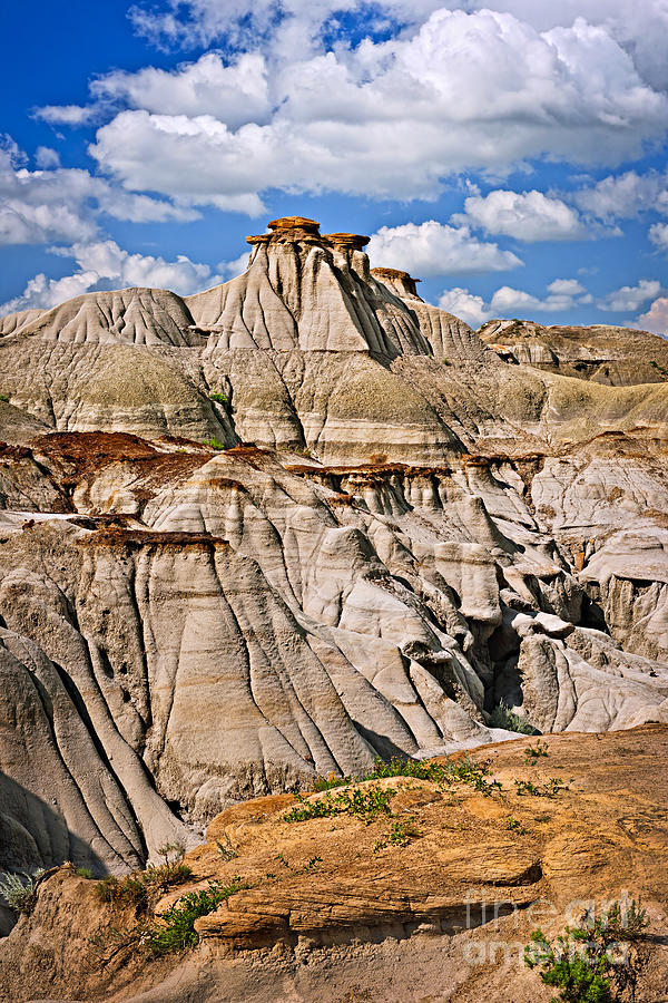 Badlands In Alberta Photograph  - Badlands In Alberta Fine Art Print