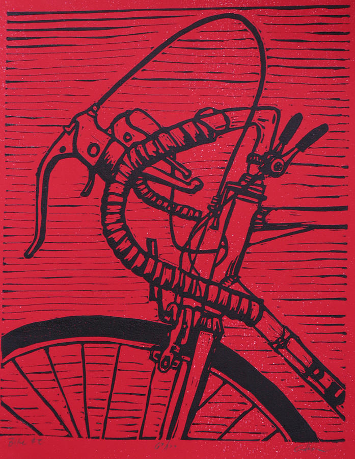 Bike 2 Drawing  - Bike 2 Fine Art Print