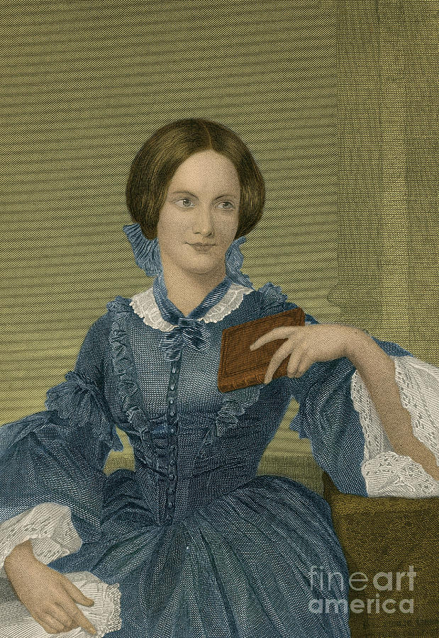 Charlotte Bronte, English Author Photograph  - Charlotte Bronte, English Author Fine Art Print