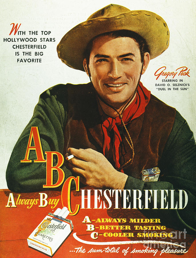 Chesterfield Cigarette Ad Photograph  - Chesterfield Cigarette Ad Fine Art Print