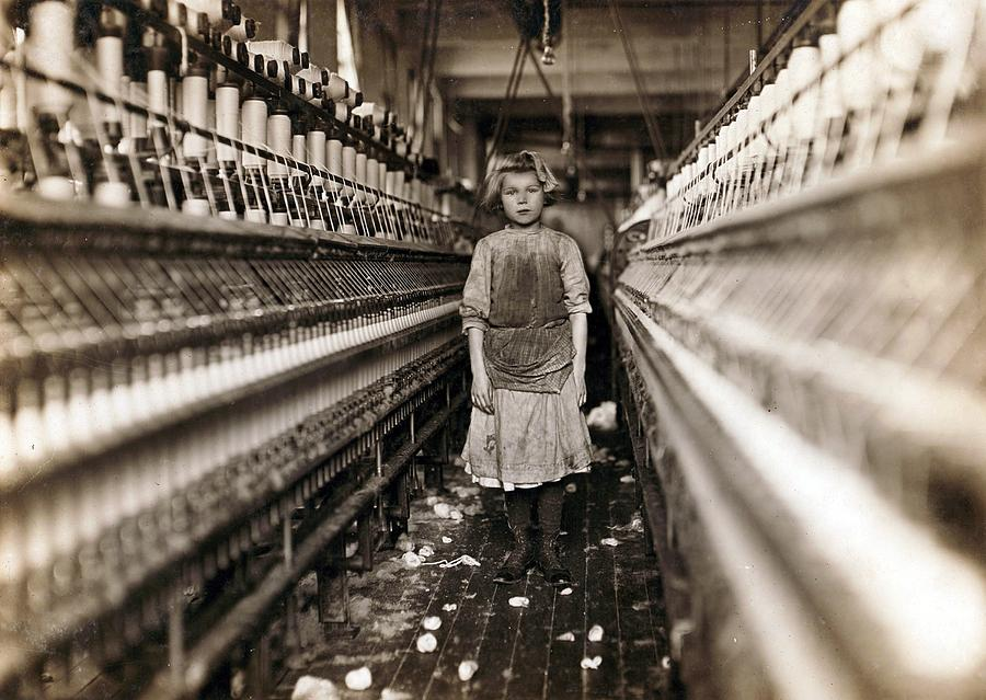 Child Laborer Portrayed By Lewis Hine Photograph  - Child Laborer Portrayed By Lewis Hine Fine Art Print