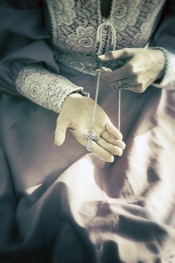 Woman Photograph - Crucifix by Joana Kruse