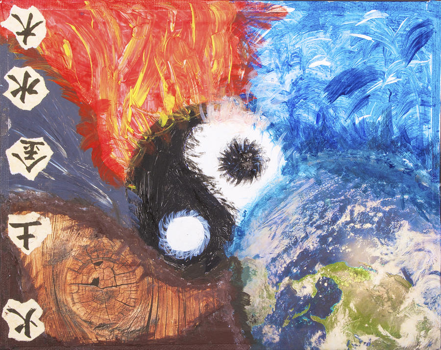 Five Elements Art : Elements mixed media by nina guzman