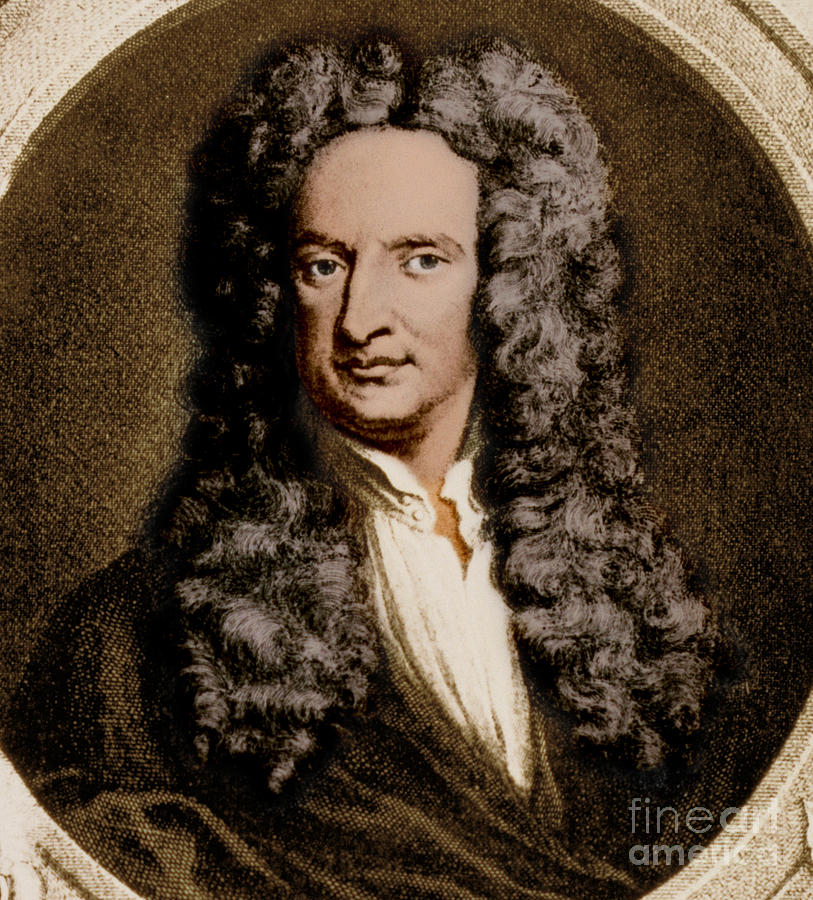 Science Photograph - Isaac Newton, English Polymath by Science Source