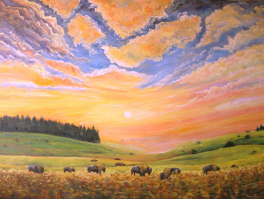O Give Me A Home Where The Buffalo Roam Painting