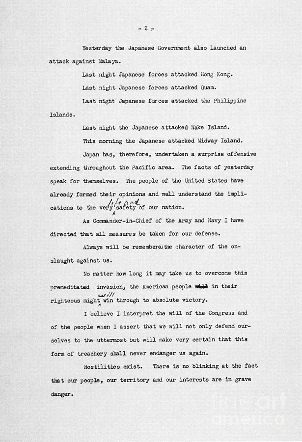 Roosevelt Speech, 1941 Photograph