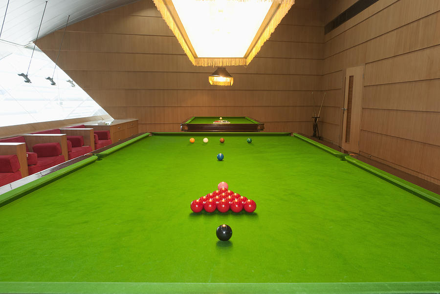 Green Photograph - Snooker Room by Guang Ho Zhu