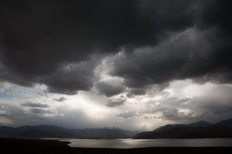 Storm On Karakul Lake Photograph  - Storm On Karakul Lake Fine Art Print