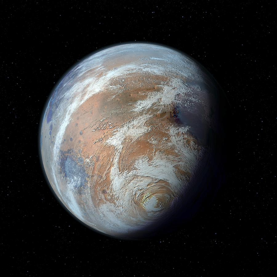 Mars Terraforming: Terraformed Mars, Artwork Photograph By Detlev Van Ravenswaay