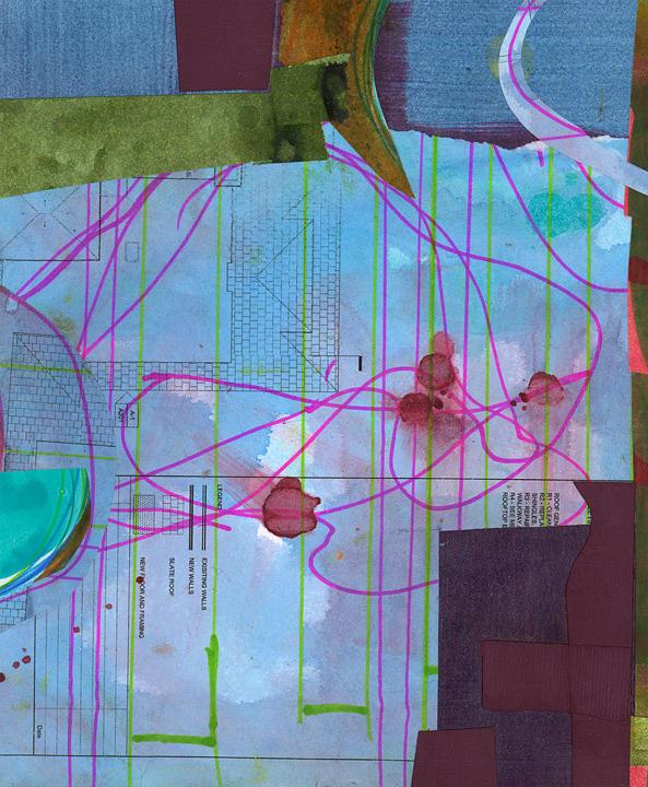 Blue Mixed Media - Untitled by Alexandra Sheldon