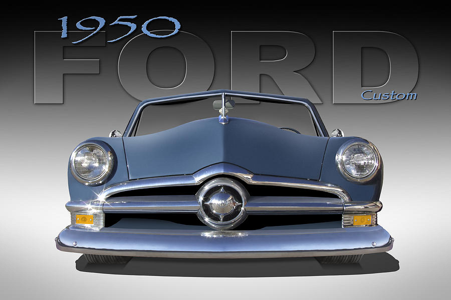 1950 Ford Photograph - 50 Ford Custom Convertible by Mike McGlothlen