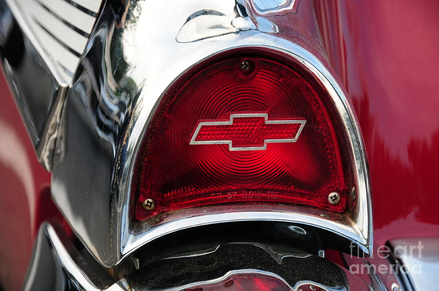 57 Chevy Tail Light Photograph