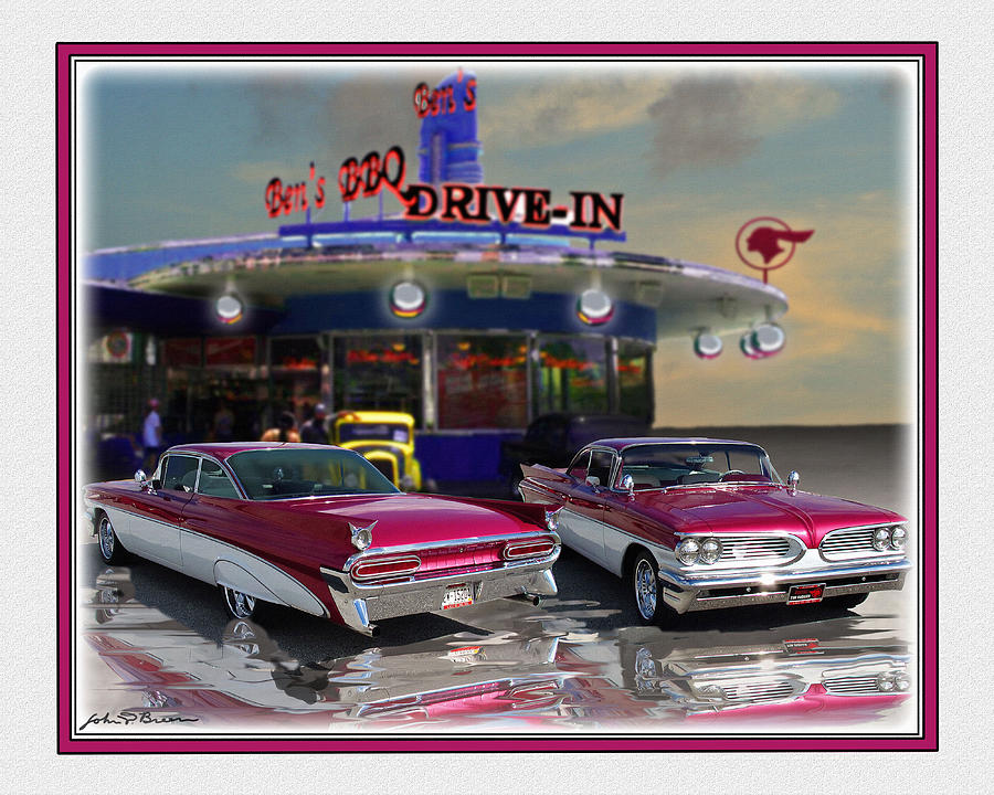 59 Pontiac Painting  - 59 Pontiac Fine Art Print