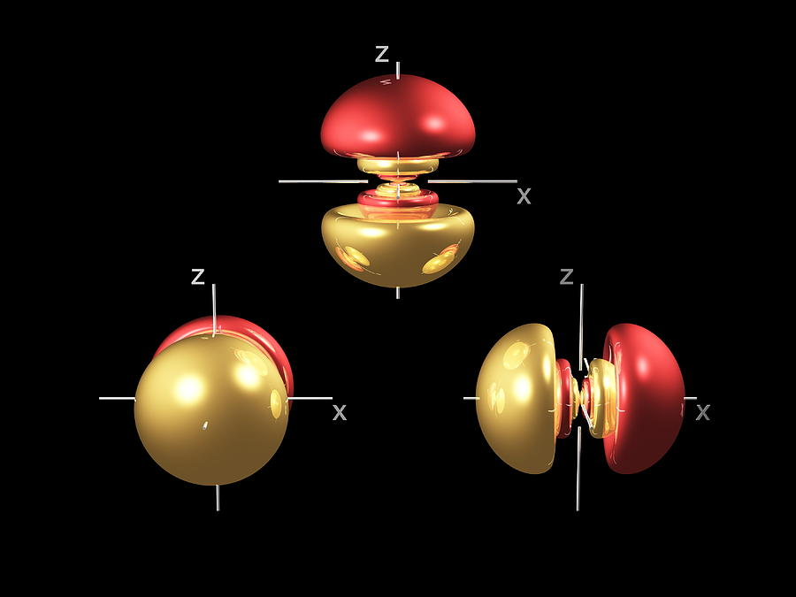 5p Photograph - 5p Electron Orbitals by Dr Mark J. Winter