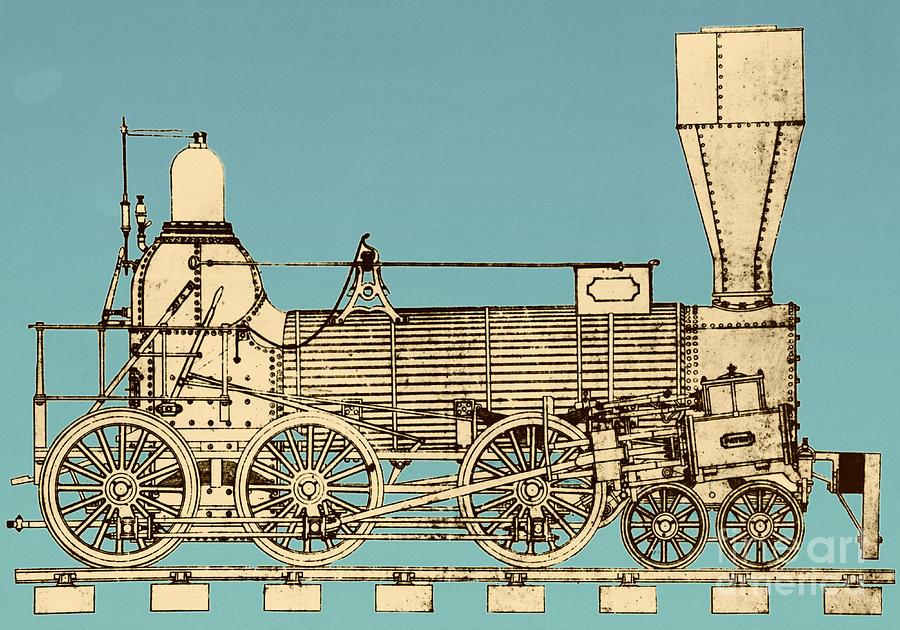 Historic Photograph - 19th Century Locomotive by Omikron