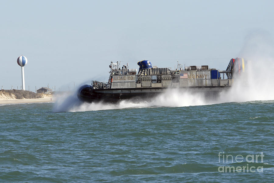 A Landing Craft Air Cushion Prepares Photograph  - A Landing Craft Air Cushion Prepares Fine Art Print