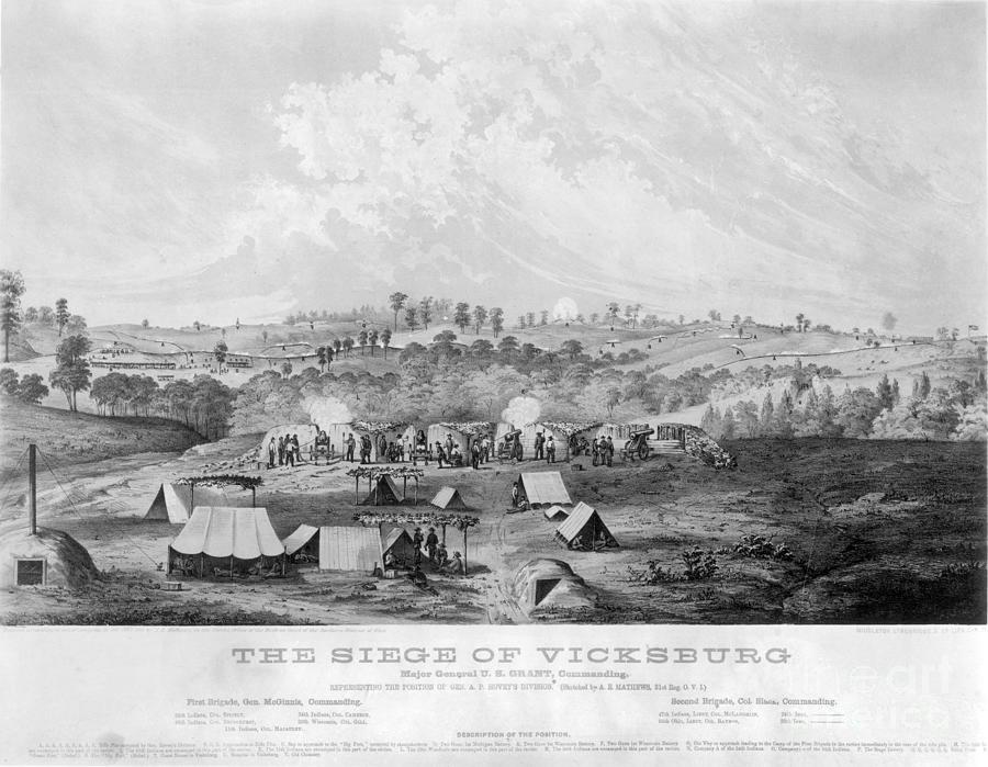 civil war vicksburg 1863 photograph by granger