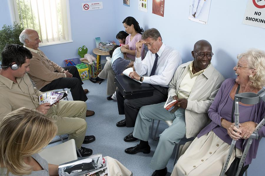Human Photograph - General Practice Waiting Room by Adam Gault