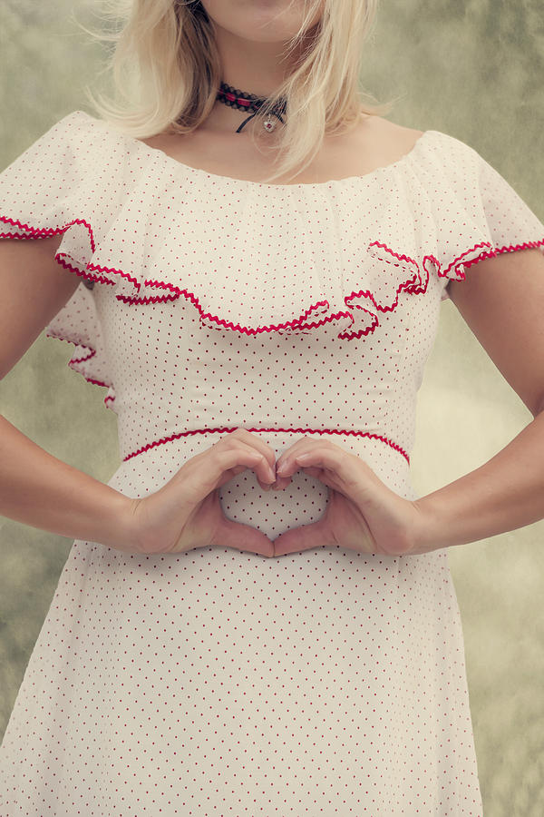 Female Photograph - Heart by Joana Kruse