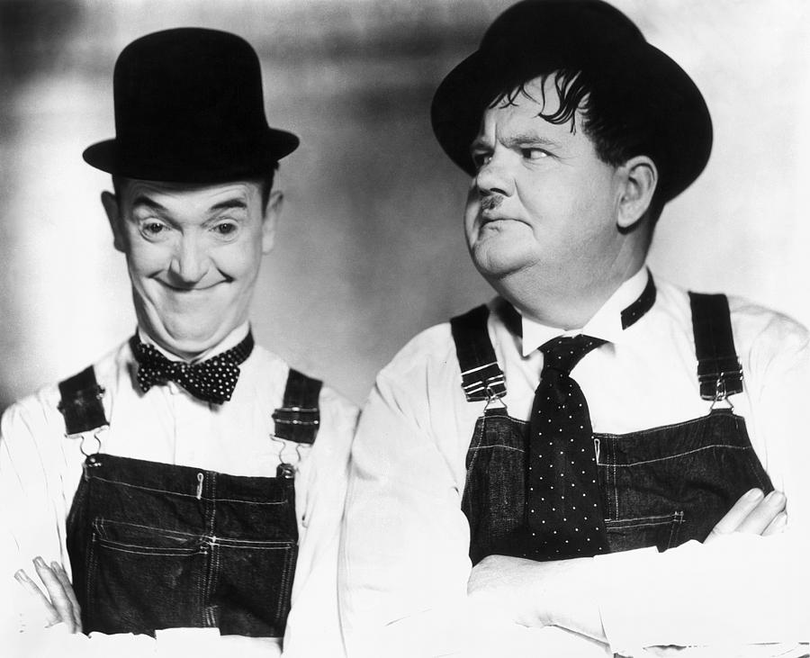 Laurel And Hardy Photograph  - Laurel And Hardy Fine Art Print