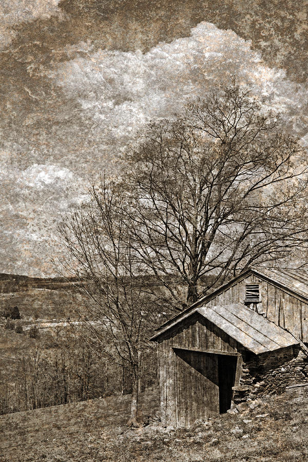 Rustic Hillside Barn Photograph