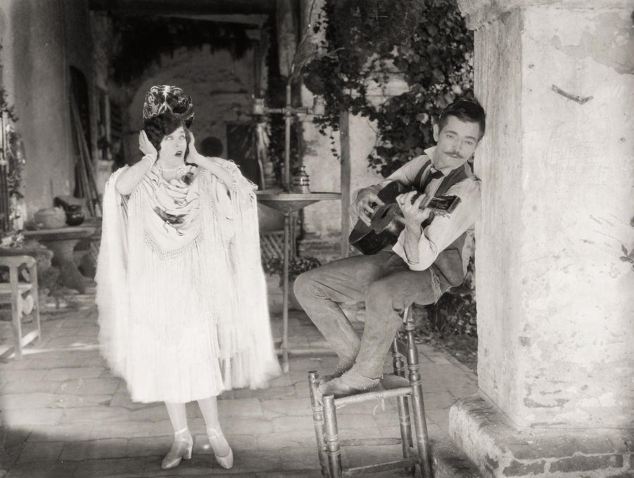 Silent Film Still: Music Photograph