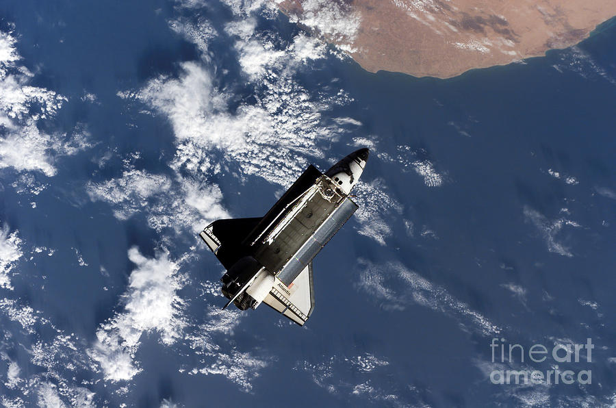 Atlantis Photograph - Space Shuttle Atlantis by Stocktrek Images