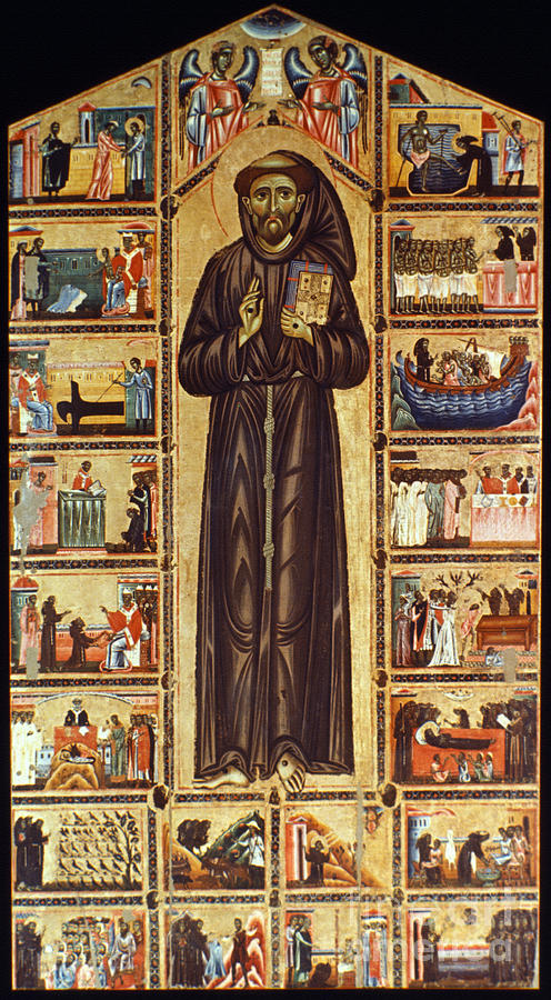 St Francis Of Assisi Painting