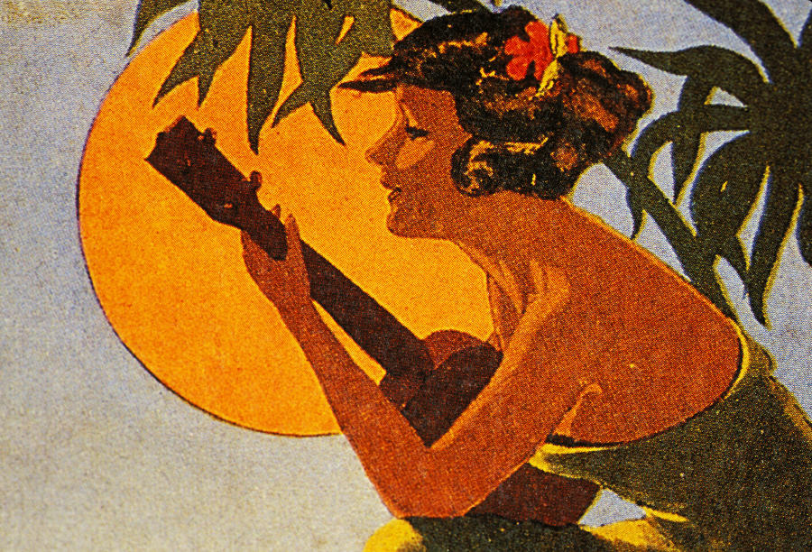 Vintage Hawaiian Art Painting  - Vintage Hawaiian Art Fine Art Print