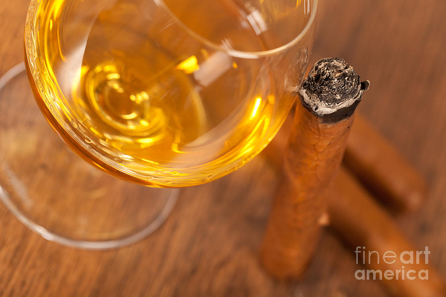 Whisky And Cigars Photograph