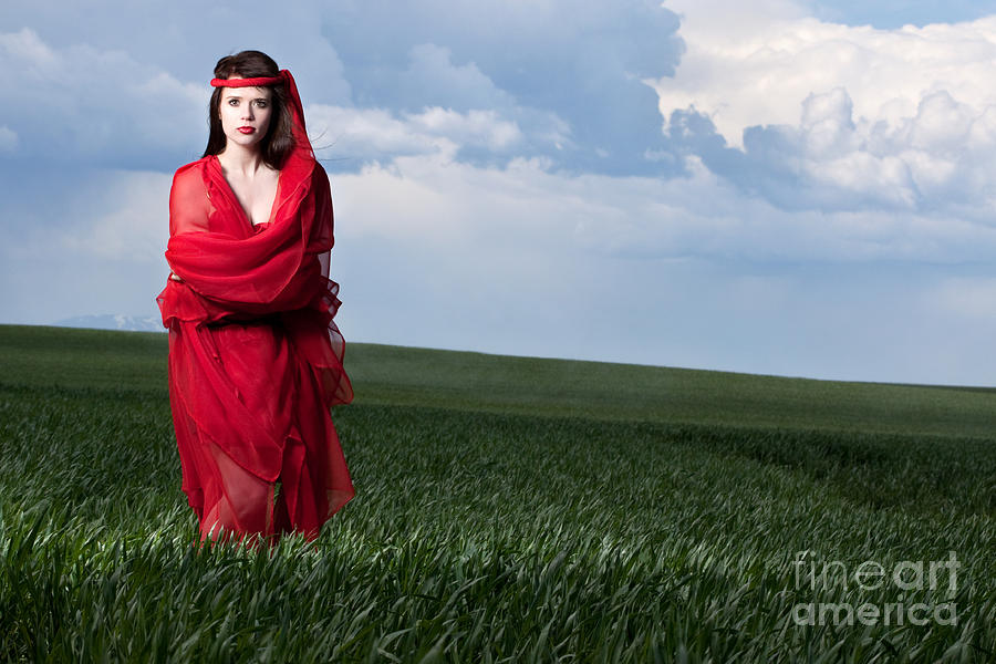 Woman In Red Series Photograph  - Woman In Red Series Fine Art Print