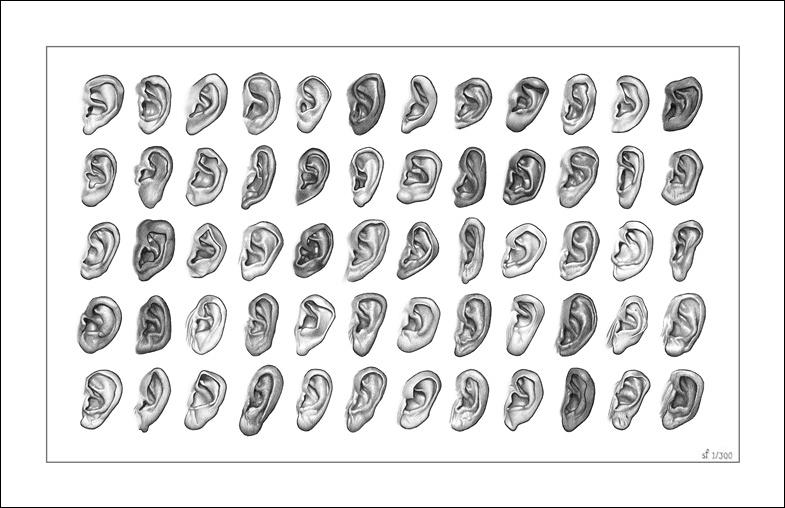 60 Ears - Limited Edition Giclee Print Drawing