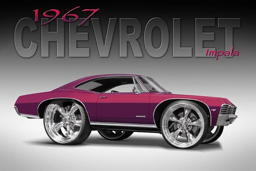 1967 Chevrolet Photograph - 67 Chevrolet Impala by Mike McGlothlen