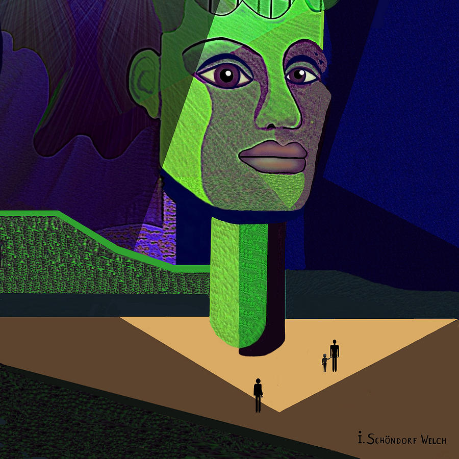 Statue Digital Art - 671 -   Mighty Diva by Irmgard Schoendorf Welch